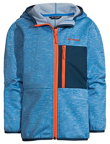 VAUDE Kinder Jacke Kids Kikimora Jacket, Fleecejacke, radiate blue, 104, 413919461040