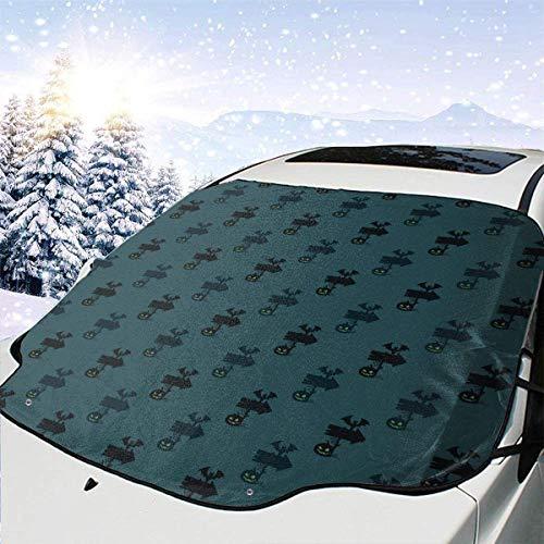 lovely baby-Z Dark Spooky - Cubierta de nieve para parabrisas de coche, protección de invierno, ajuste universal para coches, camiones, furgonetas y SUV, grueso y grande
