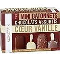 Mini bâtonnets chocolat au lait & caramel au beurre salée, coeur vanille