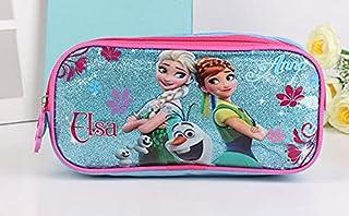 3 قطع/مجموعة من حقائب مدرسية للأطفال البنات الكرتون إلسا الأميرة حقائب الظهر لطيف للأولاد حقيبة مدرسية للأطفال (اللون: عاجي)