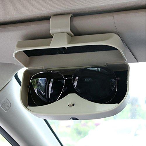 Auto Sonnenschutz Brille Sonnenbrille Utomobile Board Bills Clip Multifunktionale Aufbewahrung Halter Tragbare Organizer Tasche Einfache Montage Box Auto beige