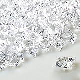 GRANDLIN Juego de 100 piedras de hielo falsas transparentes con cristales de diamante de plástico,...