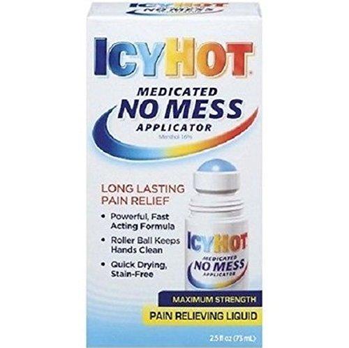 ICY HOT - Medicated No Mess Applicator Maximum Strength Pain Relieving Liquid - 2.5 fl. oz. (73 ml)