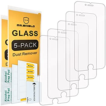 [5-PACK]-Mr.Shield Designed For iPhone 6 Plus/iPhone 6S Plus [Tempered Glass] Screen Protector with Lifetime Replacement