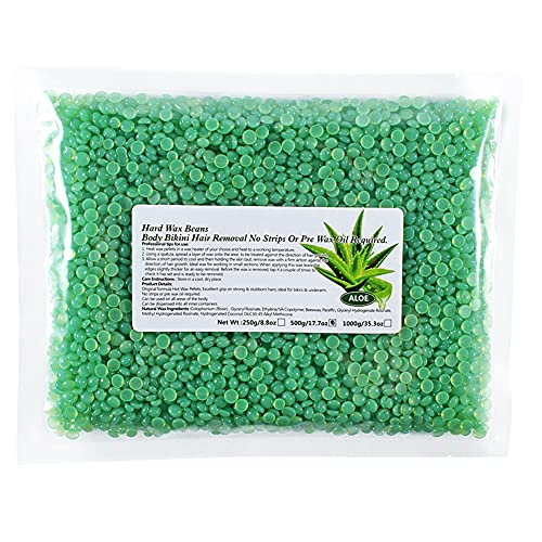 Nicejoy Liddy Wachsbohnen Körperhaarentferner Enthaarungswachs-pellets Solid-Film-bohnen Aloe 500g.
