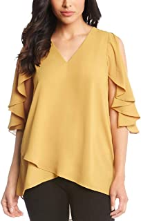 Best mustard yellow cold shoulder top Reviews