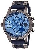 Police Reloj Multiesfera para Hombre de Cuarzo con Correa en Caucho PL14536JSU.04P