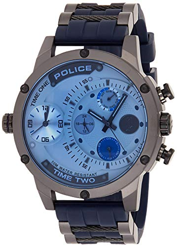 Police Herren Multi Zifferblatt Quarz Uhr mit Gummi Armband PL14536JSU.04P
