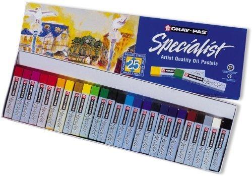Sakura eSP25 25–piece-specialist cray pas couleurs assorties oil pastel set by sakura of america