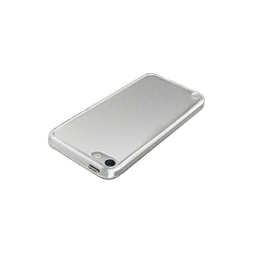 石膏以上ハイブリッドiBUFFALO iPod touch(2012年発表モデル)専用 ラメソフトケース 液晶保護フィルム付 クリア BSIP12TCTLCR