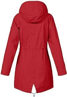 Women's Rain Jacket Long Hooded Waterproof Sunscreen Sport Outdoor Raincoat Windbreaker Outwear