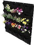 2 Colores 25 Bolsillos Jardineras Verticales para Colgar en la Pared al Aire Libre Bolsas para Tela Jardín Bolsa para Plantar Vertical Contenedor de Cultivo de Flores para Colgar en la Pared[1 #]