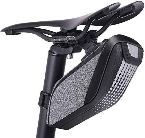 Bolsa de bicicleta Bicicleta bolsa Bolsa de sillín, a prueba de agua asiento trasero de fibra de carbono Bajo guardar bicicletas Bolsa de sillín resistente al agua for bicicleta de carretera / MTB