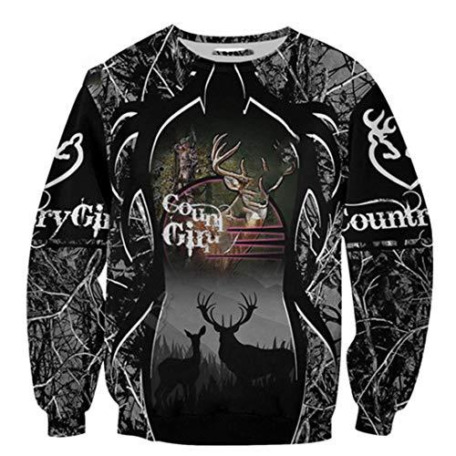 Land Mädchen Jäger Hirsch Jagd Tier Camouflag Tattoo Pullover Sweatshirts Männer/Frauen 3Dprint Hoodies Sweatshirts 6XL