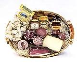 Cesti Natalizi il Natale in Toscana 1 | Cesto Natalizio a base di Salumi, Formaggi e Prodotti Artigianali Toscani | In Regalo biglietto d'auguri personalizzato | Salumificio Artigianale Gombitelli