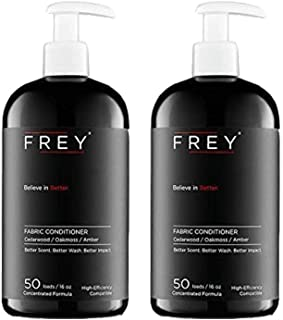 FREY Natural Liquid Fabric Softener - 2 Pack, Fabric Conditioner Keeps Clothing Looking, Feeling and Smelling Better (Cedarwood)