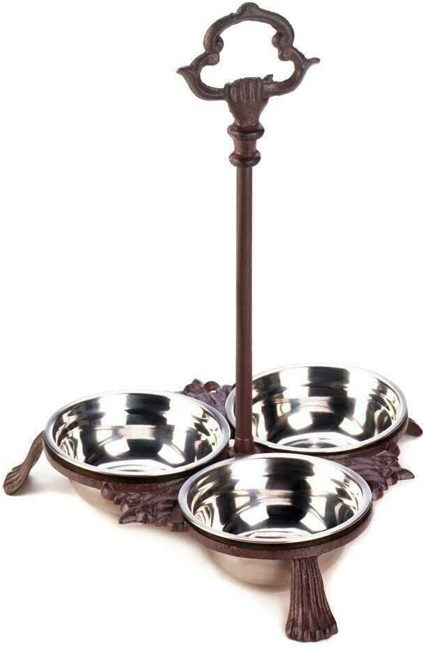 Zings Thingz Cast Iron Pet Bowl 12.5 i Handle Popular standard inches New product Set with
