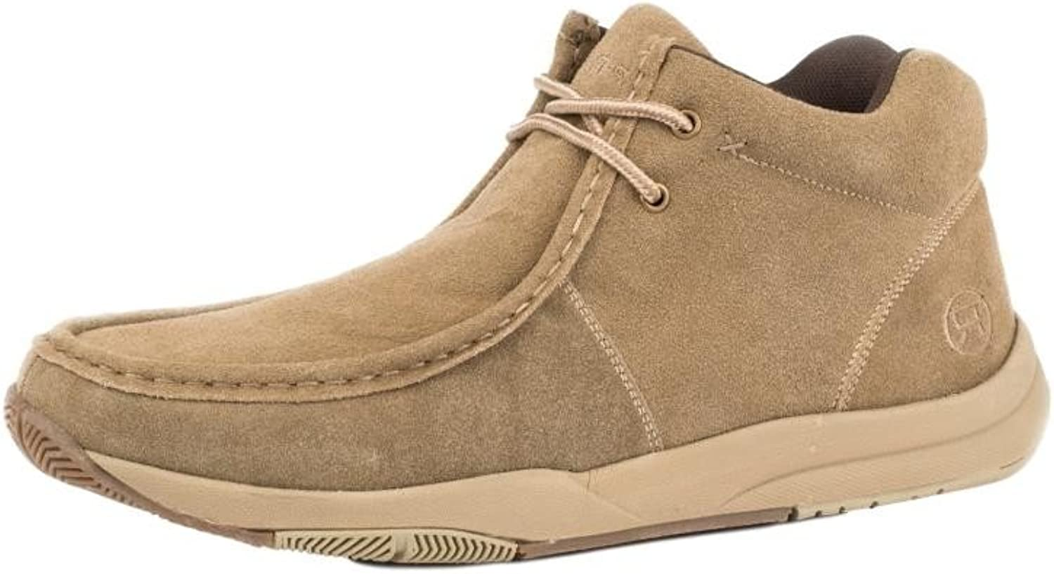 Roper Western shoes Mens Suede Leather Tan 09-020-1662-0280 TA