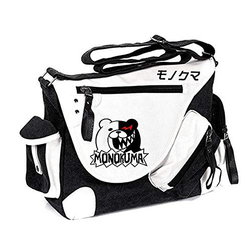 Japanese Anime Danganronpa Monokuma Cosplay Satchel Messenger Bag Crossbody bag Men Women (5)