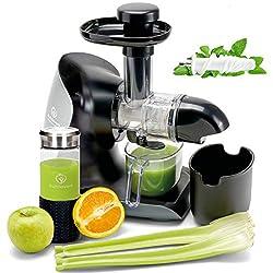*NEUHEIT* GREEN-PRESS KERAMIK Horizontaler Slow Juicer mit Keramik Pressschnecke BPA-frei | Sellerie, Selleriesaft, Weizengras, Kräuter Grüne Detox Säfte | Allround Entsafter elektrisch