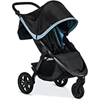 Britax Frost All Terrain Tires B-Free Stroller with Large UV50 Canopy, Adjustable Handlebar & One Hand Fold (Frost)