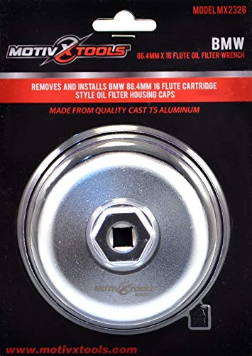 Motivx Tools Volvo Oil Filter Wrench for 86mm Cartridge Style Filter Housing Caps