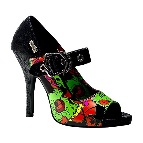 Demonia Damen ZOMBIE-07 High Heels Pumps PU Mehrfarbig 36 EU
