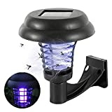 Your's Bath Solar Mosquito Killer Lamp Wall Mounted Waterproof Fly Bug Zapper Insect