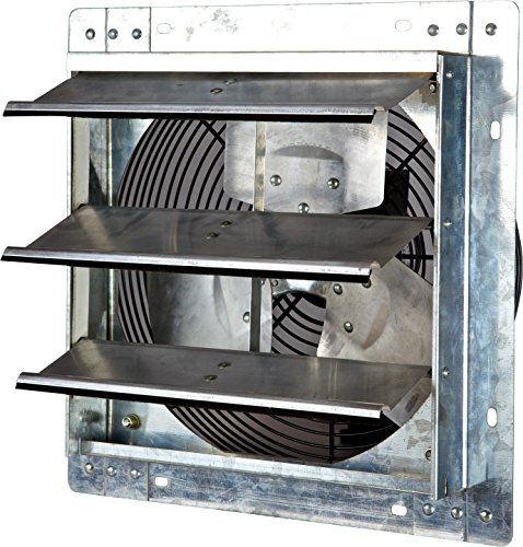 Iliving 12 Inch Variable Speed Shutter Exhaust Fan, Wall-Mounted, 12in (Renewed)