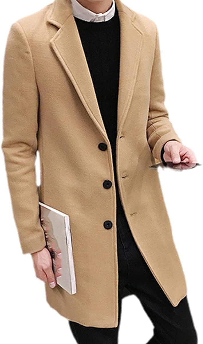 Autumn And Winter Men's Wool Coat Men's Slim Long Jacket Fashion Windbreaker Jacket