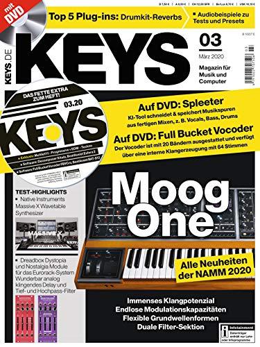 Moog One Synthesizer im Test - Spleeter und Drumkit Reverbs Plug-ins im Heft DVD