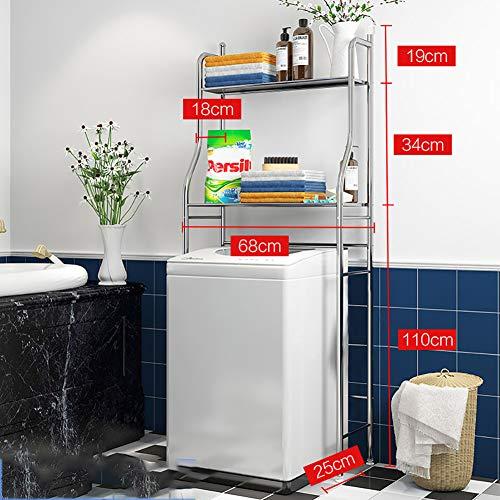 SLMY kast kast badkamer wc uitsparing voor wasmachine breedte verstelbaar 2-Shelf/ 3-Shelf metaal