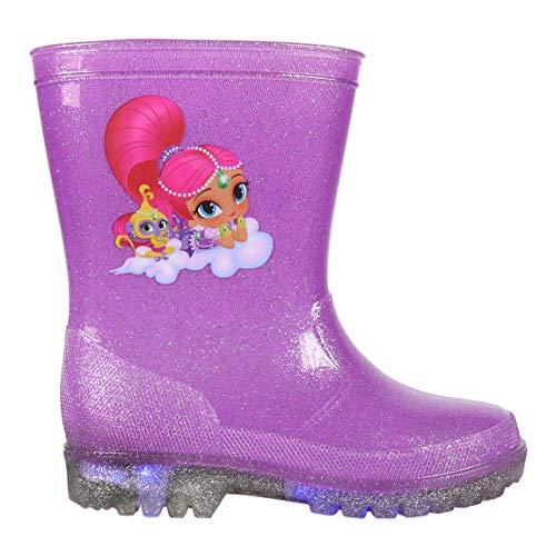 takestop Stivali Stivaletti Silicone Gomma Shimmer & Shine Nickelodeon Bambine Pioggia Chiusura Regolabile Impermeabili Suola Antiscivolo (Numeric_26)