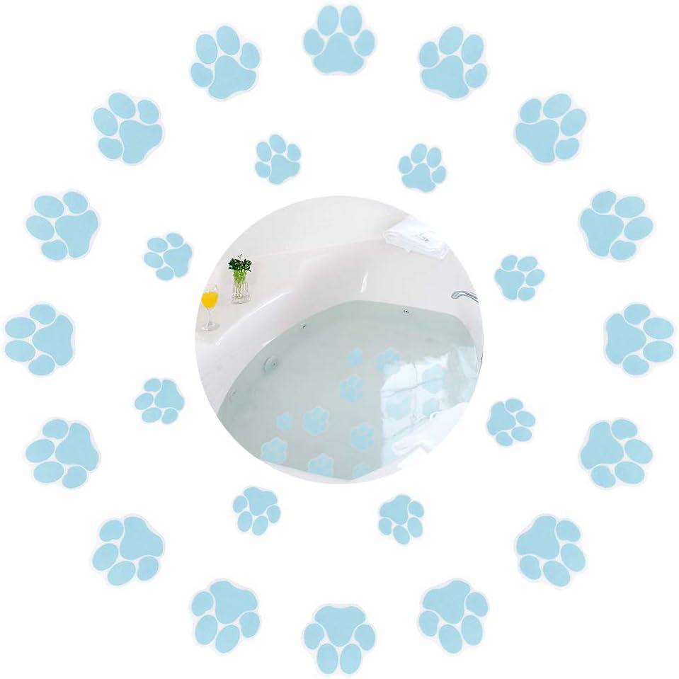 24 Pcs Dog Paw Fresno Mall Footprint Max 87% OFF Non Bathtub Stickers Strong Slip Safety
