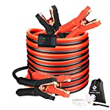 Jumper Cables, Heavy Duty Booster Cables 0 Gauge 25Feet (0AWG x 25Ft)...