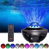 Tomshine Proyector de Luz Estelar, LED de Luz Nocturna Giratorio con 21 modos & Bluetooth, Cambiar Color Reproductor de Música con Control Remoto/Temporizador/Altavoz, Luz bebé nocturna Regalo