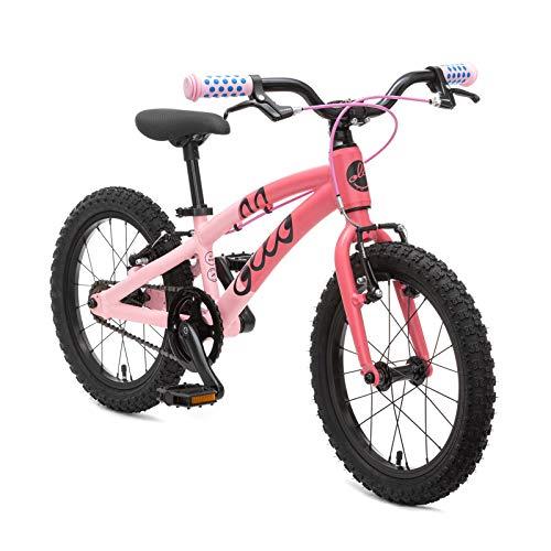 OLLO 16 Zoll Kinderfahrrad ab 4-5 Jahre, Jungen, Mädchen, leicht 6,6 kg - pink