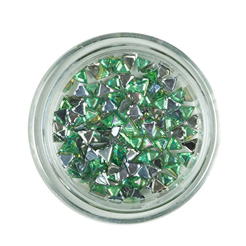 Strass triangle Menthe/pierres de strass avec décoration en cristal Rhinestones Nail Art