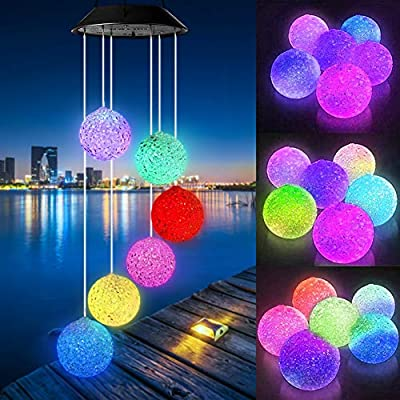 Wind Chimes, Color Changing Solar Hummingbird Butterfly Wind Chimes Outdoor, LED Decorative Mobile Windchime, Solar String Lights for Patio, Balcony, Party, Yard, Window, Garden