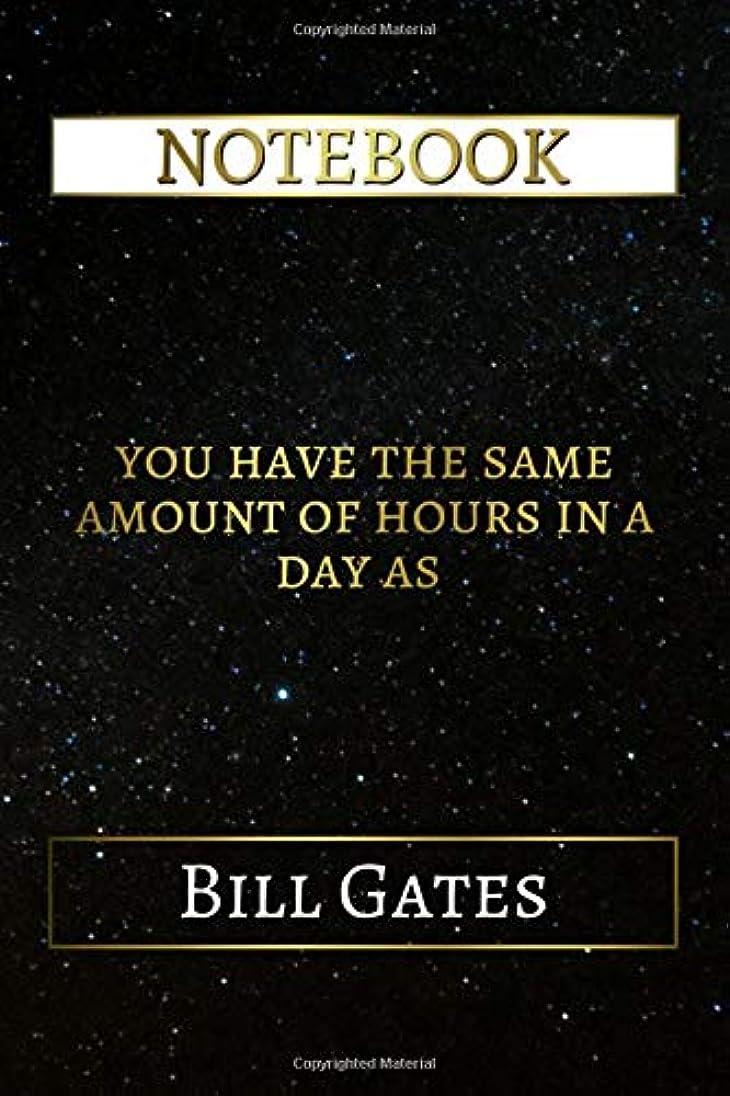 神経障害保存虎Notebook: You Have The Same Amount Of Hours In A Day As Bill Gates, 6x9 Lined Journal - 110 Pages - Soft Cover (Inspirational Notebooks)