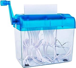 comprar comparacion Minitrituradora de papel, Portátil, para oficina, manual, para A6 o A4 doblado, A4apaisado, Capacidad 1,5&nbs...