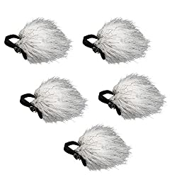 Record voice outdoors using a fuzzy microphone cover like this