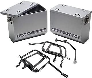 Tusk Aluminum Panniers / Pannier Racks Large Silver Yamaha WR250R 08-2016