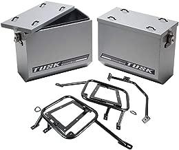 Tusk Aluminum Panniers with Pannier Racks Medium Silver - Fits: Suzuki DR650SE 1996-2009