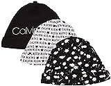 Calvin Klein Baby Unisex Hat, Multipack, Classic Black with Logo, Signature, Alphabet, One Size
