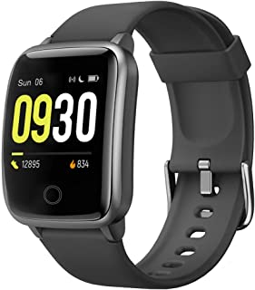 Smart Watch for Men Women 2020 Version IP68 Waterproof, Fitness Tracker Heart Rate Monitor Sport Digital Watch, Smartwatch for Android Phones and iOS Phones Compatible iPhone Samsung