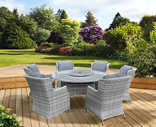 PAGODA Verona Deluxe Dining Set 6 Seat [PAGVDSET6]