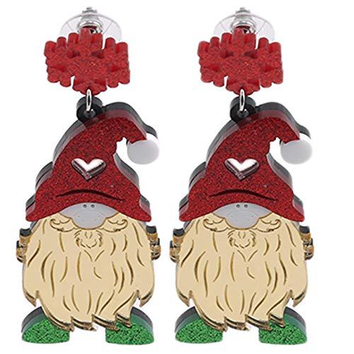 Tigkley - Pendientes de Santa Claus para mujeres y niñas, regalo de Navidad