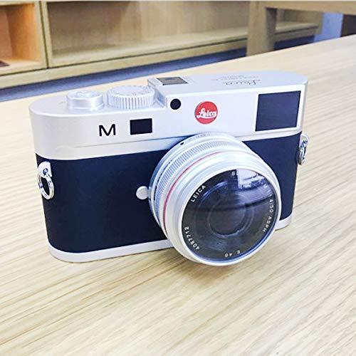 Camera Tripod-Camera Bag-selfie sticks Verkopen goed Niet-werkende Dummy DSLR Camera Model Photo Studio Props voor Leica M, Korte Lens (zilver), ZILVER