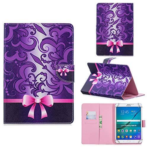 FroFine - Funda de protección Universal para Tablets de 10 Pulgadas (Piel sintética, Cierre magnético, Solapa para Samsung/Huawei/iPad Mini de 9,5-10,5 Pulgadas)